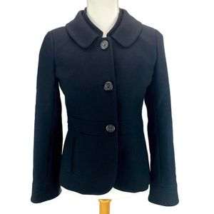 J Crew Maggie Double-Serge Jacket Fitted Black